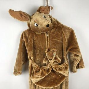 Kids Plush Kangaroo Costume Size Large 6-7 Yrs